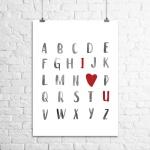 <h5>Alphabet I Love You Art Print</h5><p>Alphabet I Love You Art Print</p>