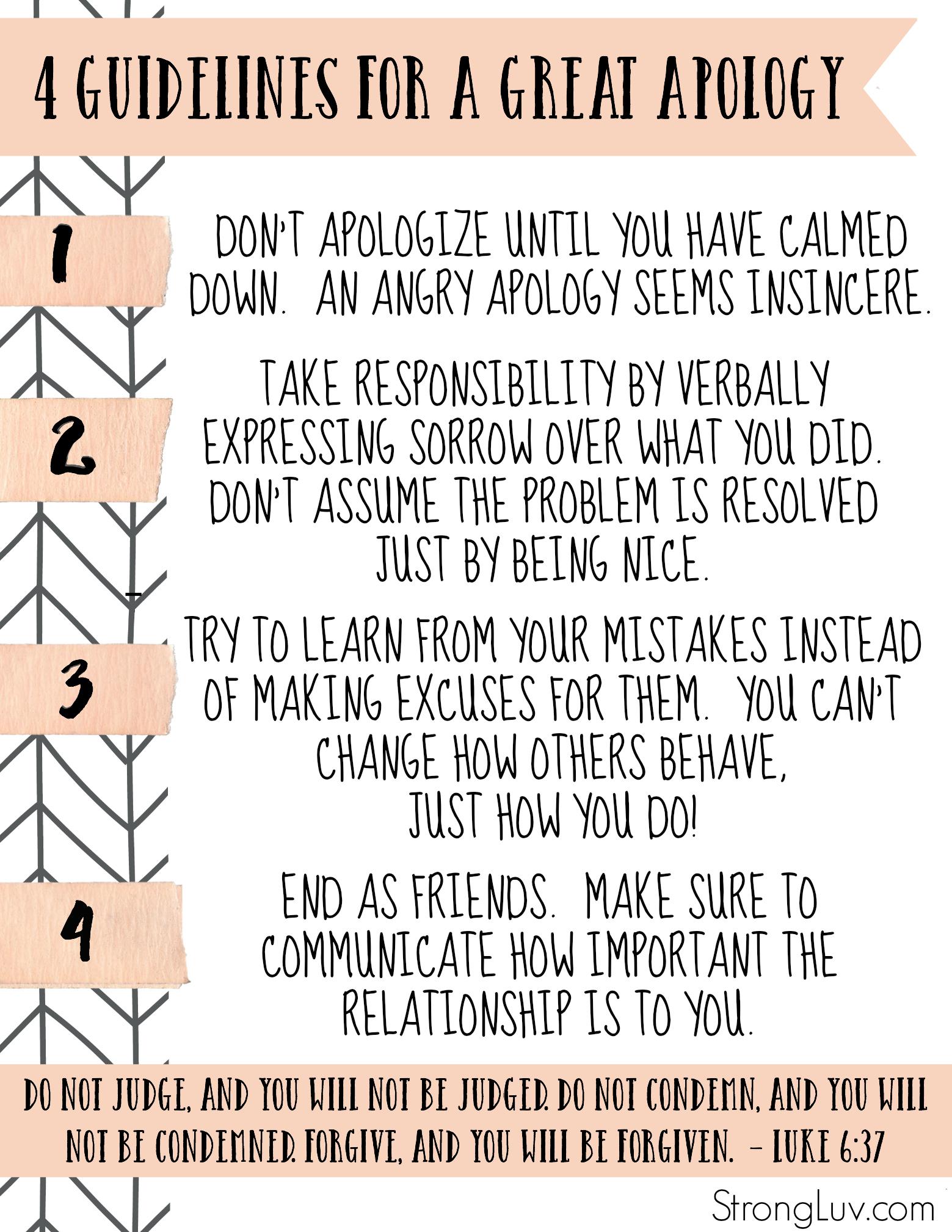 teach kids to ask forgiveness