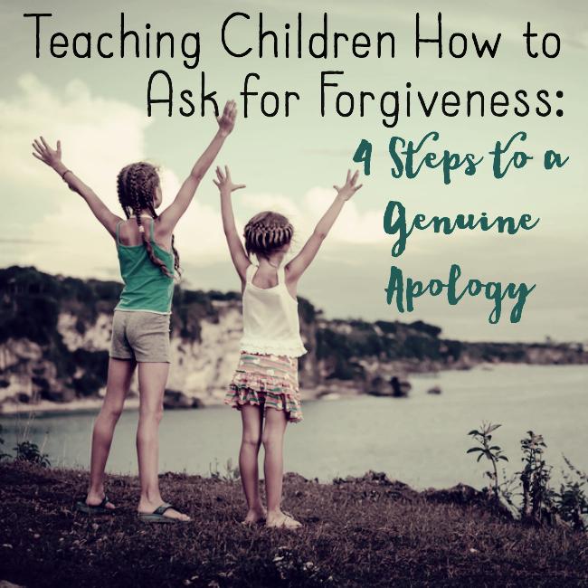 Teach children to ask forgivness