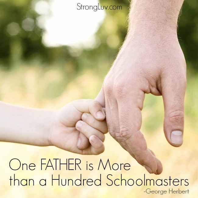 one father is worth more than a hundred schoolmasters