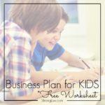 business plan kids