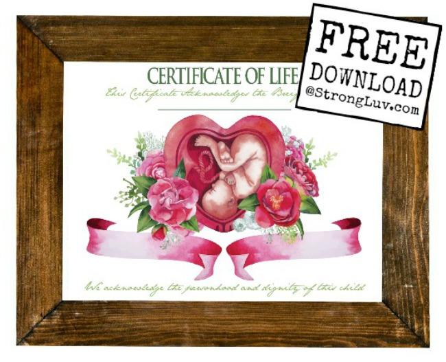 certificate of life